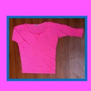new🌷GAP Neon Glow pink Batwing Loose Tee XS